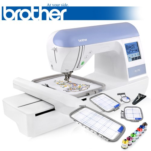 Best Review Of Brother PE770 (PE 770) Embroidery Machine w/ USB Flash Port and Elipse 4-Hoop Embroid...