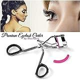 Premium Eyelash Curler By Mia Adora - With Unique Spring Design For Extra Precision & Perfect Curl - Free BONUS...