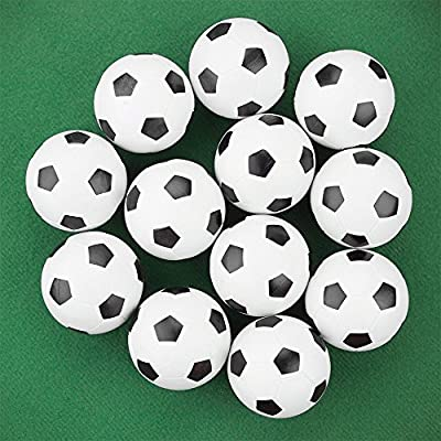 OrangeTag Table Soccer Foosballs Replacements Mini Black and White Soccer Balls - Set of 12