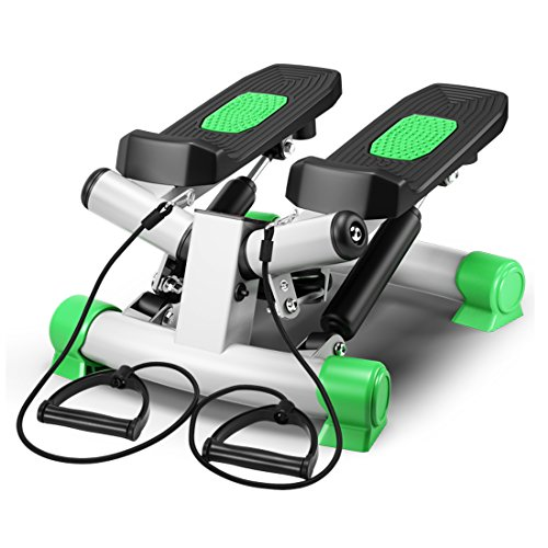 IPO Portable Mute 3D Stretchable Health Fitness Mini Step Machine Waist Leg Buttock Exercise Calories Burning Monitor Display Twister Stepper