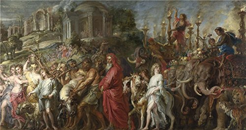 The High Quality Polyster Canvas Of Oil Painting 'Peter Paul Rubens A Roman Triumph ' ,size: 10 X 19 Inch / 25 X 48 Cm ,this Cheap But High Quality Art Decorative Art Decorative Canvas Prints Is Fit For Powder Room Decor And Home Artwork And Gifts
