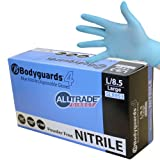 300 x BODYGUARDS 4 BLUE NITRILE LARGE POWDER FREE DISPOSABLE GLOVES 8953