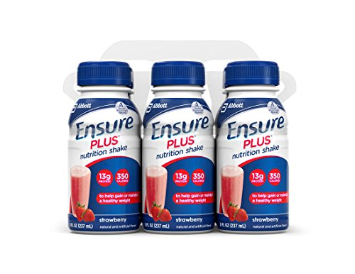 Ensure Plus Nutrition Shake, Strawberry, 8-Ounce Bottle, 6 Count, (Pack Of 4)