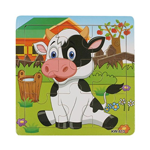 XUANOU-Dairy-Cow-Puzzle-Wooden-Educational-Toys-For-Kids-Animal-Learning-Puzzle-Toys
