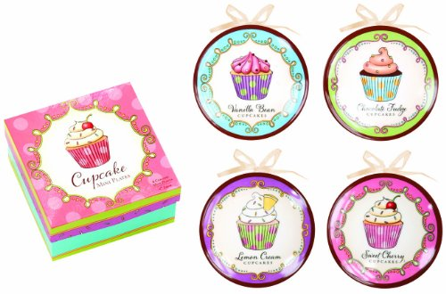 Manual Woodworkers And Weavers Decorative Plates, Mini, Cupcakes, Set Of 4