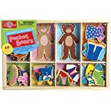 T.S. Shure Pocket Bears Wooden Magnetic Dress-Ups