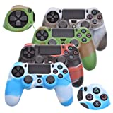 Cosmos ® 4 PCS Different Camouflage Color Silicone Protective Case for Sony PlayStation PS4 Controller