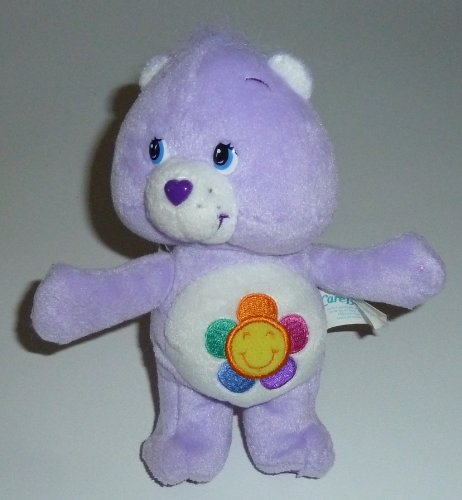"2004 Care Bears 8"" Plush Harmony Bear Bean Bag Doll - 1"
