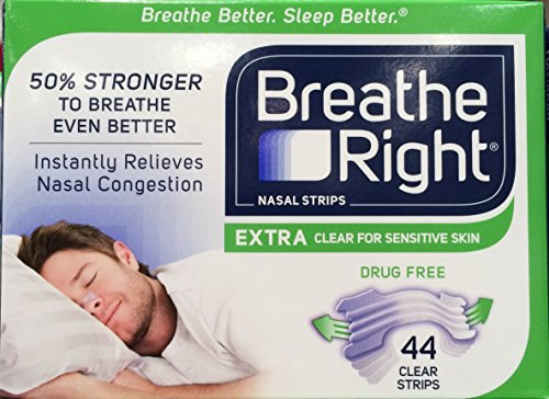 Breathe Right Nasal Strips, Extra Clear for Sensitive