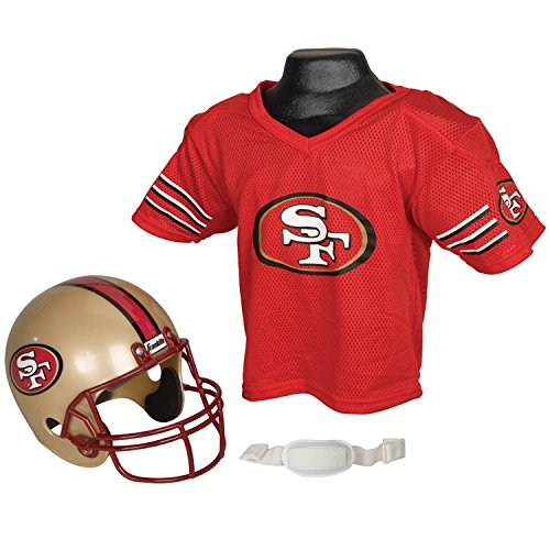 Franklin Sports Nfl San Francisco 49Ers Replica Youth Helmet And Jersey Set