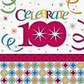 100th Celebrate In Style 13 in. Luncheon Napkin - 16/Pkg.