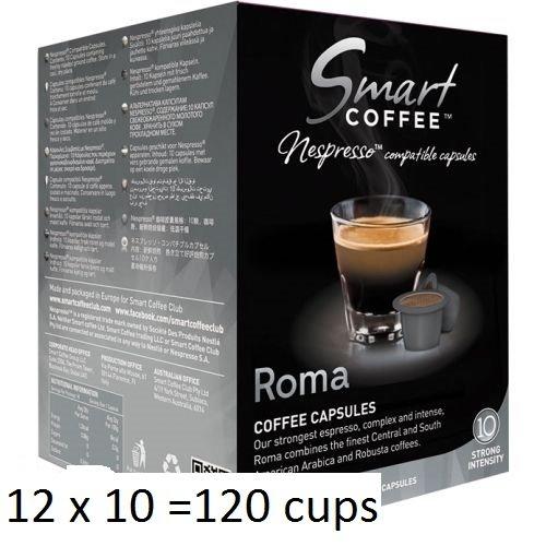 Smart Coffee Club Nespresso® Compatible Coffee Pods 12 x 10 Roma