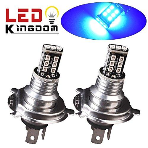 LEDKINGDOMUS 2 X H4 HB2 9003 15W High Power LED Ultra Blue Bulbs Car Fog Driving Light (Led Light Car H4 compare prices)