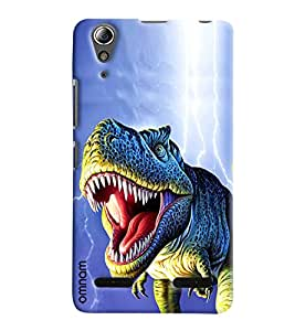 Omnam Dinasours Printed Designer Back Cover Case For Lenovo A6000