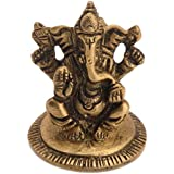 Elephant Headed Lord Ganesha Worshipping Decorative Idol By Vyomshop BH05525