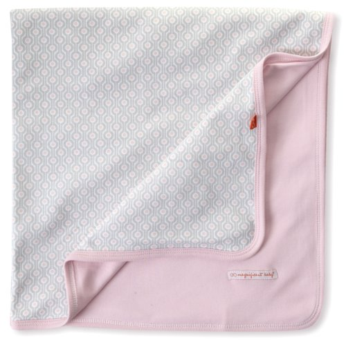 Magnificent Baby-Girls Newborn Reversible Blanket, Pink Mod Dots, One Size