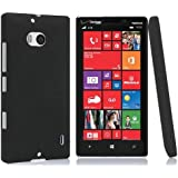 EnGive 2014 New Quicksand Hard Matte Skin Case for Verzion Nokia Lumia 929 Icon (Black)