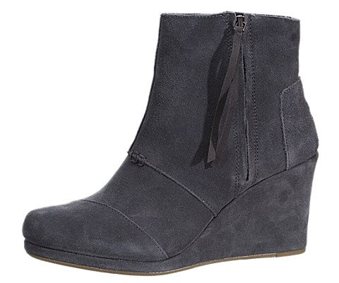 Toms Womens Desert Wedge High Dark