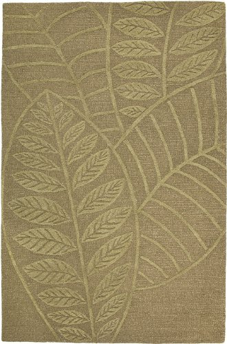 Rizzy Rugs DI-1276 3-Foot-by-5-Foot Dimension Area Rug, Tropical Leaf Green