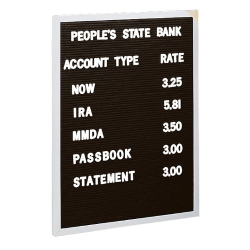 open face changeable black letter board 2 39 x 3 39 size 24 h x 18 w x d 0014935398026. Black Bedroom Furniture Sets. Home Design Ideas