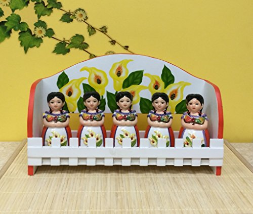 5 Pc Spice Rack.W/Wood Rack Sunflower Maria Decor front-587401