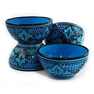 Le Souk Ceramique Soup/Cereal Bowls, Set of 4, Sabrine Design