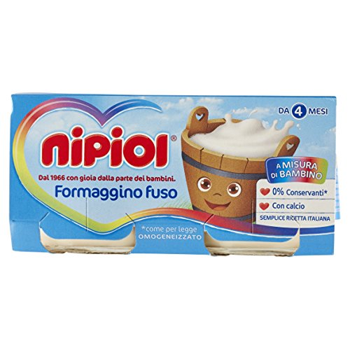 Nipiol Omogeneizzato Formaggio, Formaggino - 24 Vasetti da 80 gr