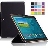 IVSO Slim Smart Funda de Cuero con Soporte para Samsung Galaxy Tab S 10.5 Tablet con Auto Sleep/Wake Function (Negro)