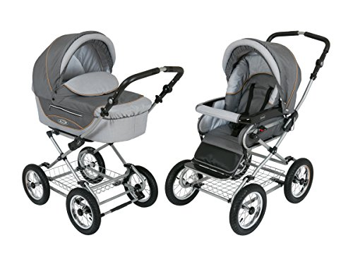 Buy Bargain Roan Kortina Classic Pram Stroller 2-in-1 with Bassinet and Seat - Multiple Colors (Shad...
