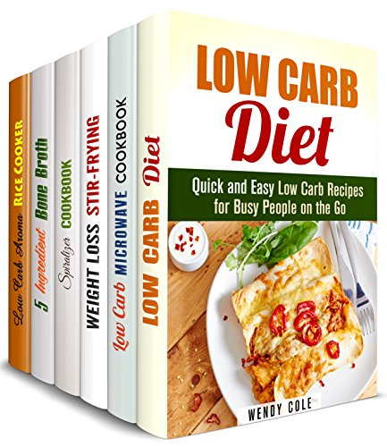 Carbs Control Box Set (6 in 1): Over 200 Best Low Carb Recipes for Microwave, Wok, Cast Iron, Spiralizer, Aroma Rice Cooker and So Much More (Weight Loss & Eating Clean) by Wendy Cole, Emma Melton, Tina Porter, Dianna Grey, Melissa Hendricks