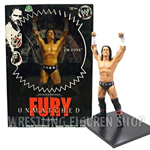 "WWE Unmatched Fury Platinum Edition ""CM PUNK"" Figure STATUE"