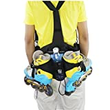 Denuoniss Professional Inline Skates Travel Backpack Waist Backpack (yellow camo)