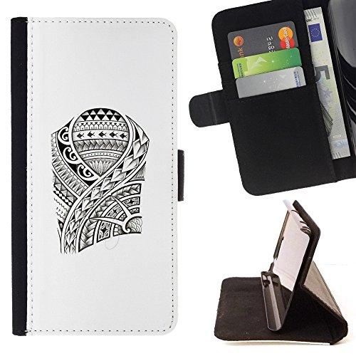 Pelle Portafoglio Custodia protettiva Cassa Leather Wallet Case for LG K10 / CECELL Phone case / / Art Pattern Fish Viking Style /