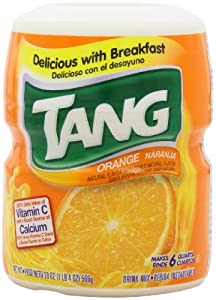Tang Orange Powdered Drink Mix  (Makes 6 Quarts),  20-Ounce Canisters (Pack of 6)