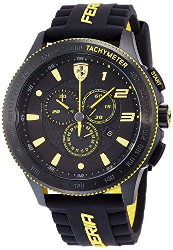 Ferrari Scuderia  Scuderia XX - Reloj de cuarzo para hombre, con correa de plástico, color negro