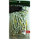 Jef World Of Golf Gifts And Gallery, Inc. Height Control Tees 2 3/4-Inch - 75 Pack (White/Yellow)