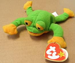 TY Teenie Beanie Babies Smoochy the Frog Plush Toy Stuffed Animal