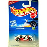 1995 Mattel Hot Wheels Grizzlor Black, White & Red 1:64 Scale Die Cast Moc Collector #484 Out Of Production Limited...