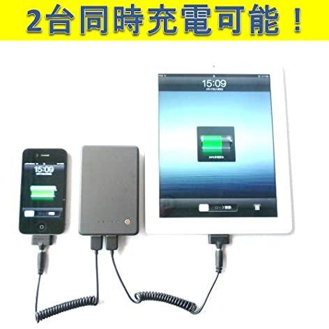 cheero Power Plus ������ 9000mAh ��Х���Хåƥ꡼ iPhone4S / iPhone 4 / iPhone3GS / ��iPad / iPad2 / iPad / iPod / ���ޡ��ȥե��� �б� ���ӥХåƥ꡼ USB��2��2��Ʊ�����Ų�ǽ ��1ǯ�ݾڡ� ���ܸ�谷�������դ�