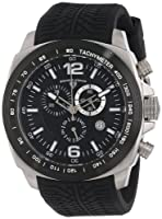 "Swiss Legend Men's ""Sprinter"" Stainless Steel and Black Ion Plating Black Silicone Watch from Swiss Legend"