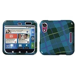 MYBAT MOTMB511HPCIM636NP Slim and Stylish Protective Case for the Motorola Flipout MB511 - Retail Packaging - Blue Plaid Weave