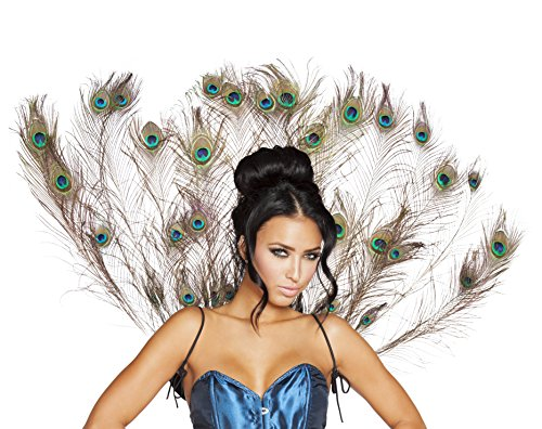 Roma Costume Women's Peacock Tail Feather