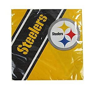 NFL Pittsburgh Steelers Disposable Napkins (20-Pack) by Duck House Sports