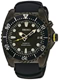 Seiko Men's SKA427P2 Kinetic Stainless Steel Black Rubber Strap Watch