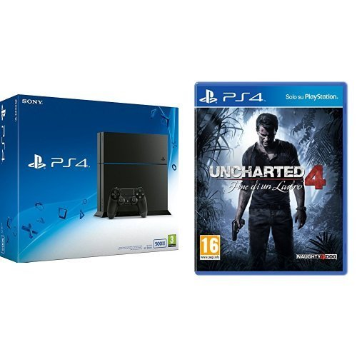 PlayStation 4 500 Gb C Chassis + Uncharted 4: Fine di un Ladro