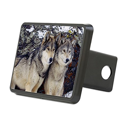 CafePress - Wolf Couple Hitch Cover - Trailer Hitch Cover, Truck Receiver Hitch Plug Insert (Wolf Trailer Hitch Cover compare prices)