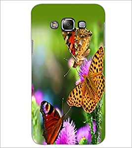 PrintDhaba Butterflies D-2331 Back Case Cover for SAMSUNG GALAXY A7 (Multi-Coloured)