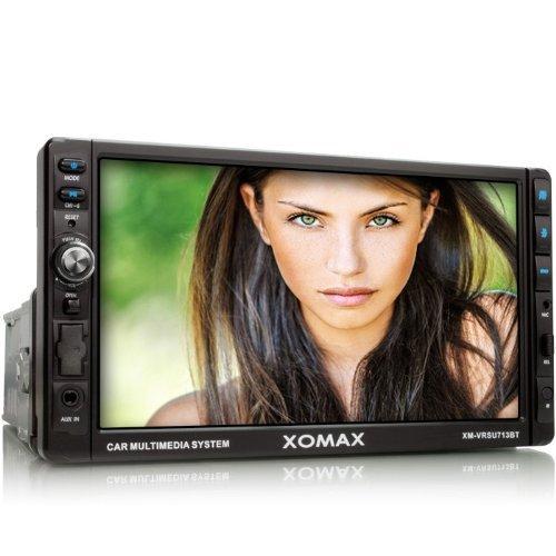 XOMAX-XM-VRSU713BT-Autoradio-Moniceiver-mit-18-cm-7-Touchscreen-Display-Bluetooth-Freisprecheinrichtung-und-Musikwiedergabe-via-A2DP-USB-Anschluss-bis-32-GB-SD-Karten-Slot-bis-32-GB-fr-Audio-und-Video