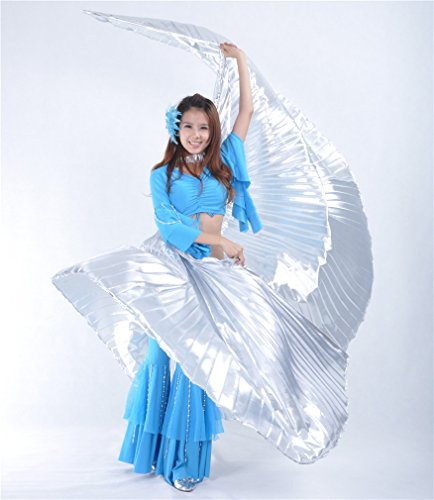 Dreamspell 2014 Shining Belly Dance Costume Isis Wings (Silver)