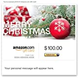 Amazon Gift Card - E-mail - Merry Christmas (Pine)